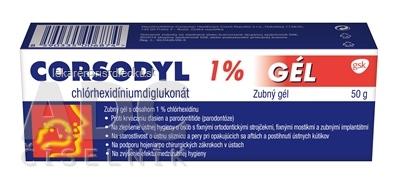 CORSODYL 1% GÉL gel dnt 1x50 g