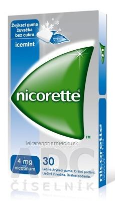 Nicorette Icemint Gum 4 mg gum med (blis.PVC/PVDC/Al) 1x30 ks
