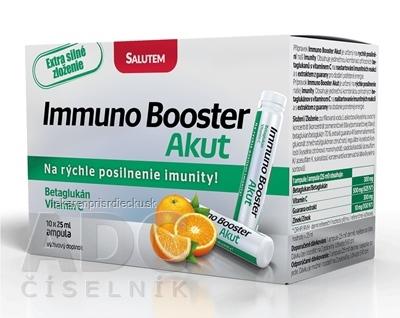 Immuno Booster Akut SALUTEM roztok v ampulkách s Betaglukánom 10x25 ml (250 ml)