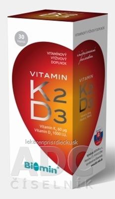 Biomin VITAMIN K2 + D3 1000 I.U. cps 1x30 ks