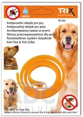 TRIX TR264 Antiparazitný obojok pre psov, dĺžka 33 cm, 1x1 ks