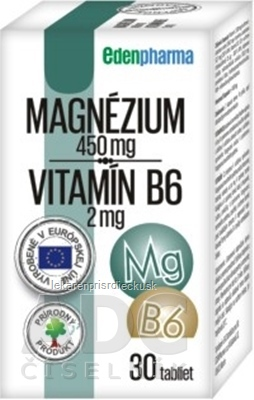 EDENPharma MAGNÉZIUM + Vitamín B6 tbl 1x30 ks