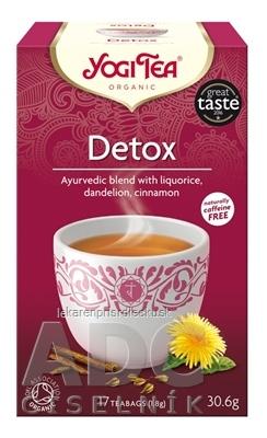 YOGI TEA Detox BIO ajurvédska čajová zmes, nálevové vrecúška 17x1,8 g (30,6 g)