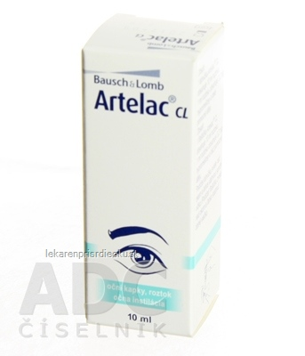 ARTELAC CL očný roztok, sterilizujúca  zvlhčujúca instilácia 1x10ml