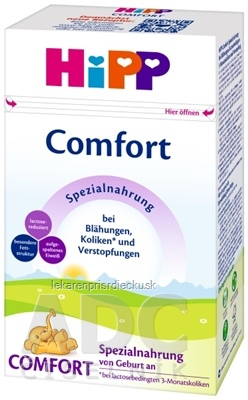 HiPP Comfort špeciálna dojčenská výživa(od narodenia) (inov.2020) 1x500 g