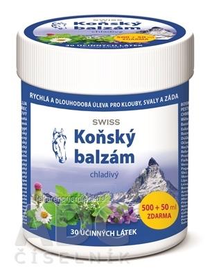 KONSKÝ BALZAM SWISS chladivý 500+50 ml zadarmo (550 ml)