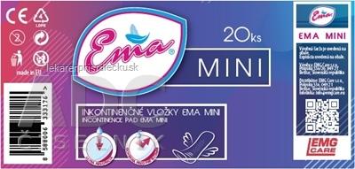 Ema Mini vložky inkontinenčné, pre ženy 1x20 ks