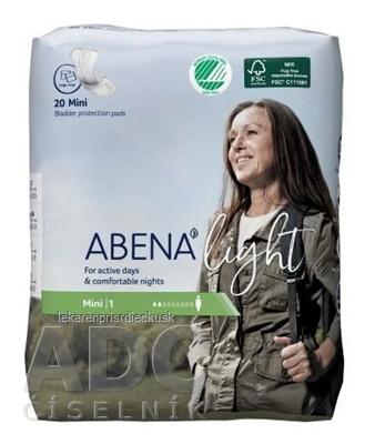 ABENA Light Mini 1 absorpčné vložky, priedušné, savosť 180 ml 1x20 ks