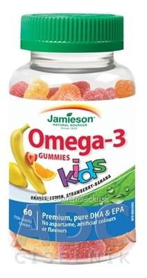 JAMIESON OMEGA-3 KIDS GUMMIES želatínové pastilky 1x60 ks