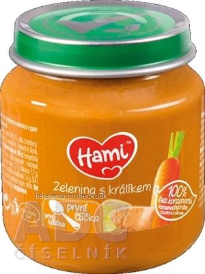 Hami príkrm Zelenina s králikom prvá lyžička (od ukonč. 4. mesiaca) 1x125 g
