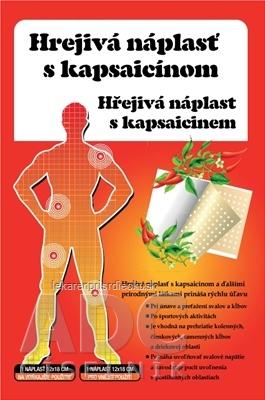 HREJIVÁ Náplasť s kapsaicínom 12x18 cm, masážna, 1x1 ks