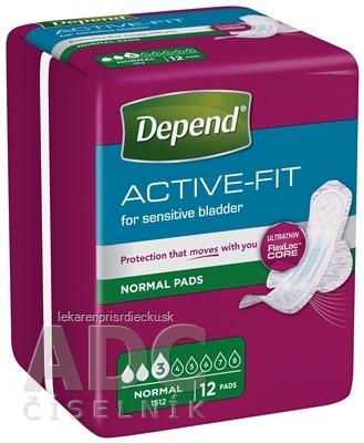 DEPEND ACTIVE-FIT Normal inkontinenčné vložky pre ženy 1x12 ks