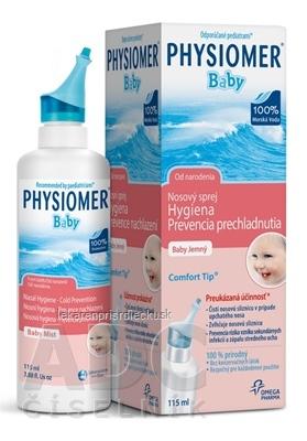 PHYSIOMER Baby izotonický nosový sprej s obsahom morskej vody 1x115 ml