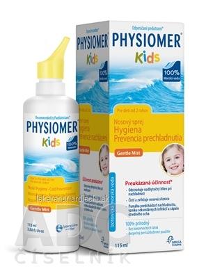 PHYSIOMER KIDS nosový sprej izotonický, s obsahom morskej vody 1x115 ml