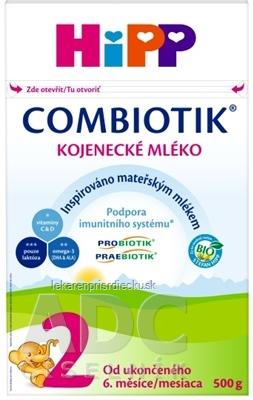 HiPP 2 BIO Combiotik následná mliečna výživa (od ukončeného 6. mesiaca) 1x500 g