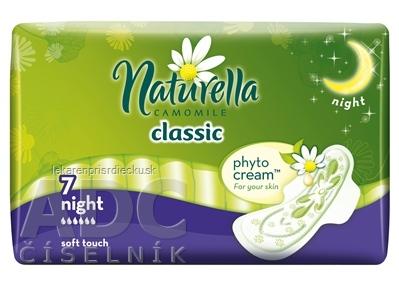 Naturella CAMOMILE Classic Night hygienické vložky 1x7 ks