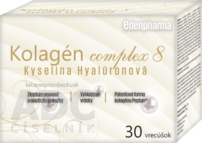 EDENPharma Kolagén complex 8 Kyselina Hyalurónová vrecúška 1x30 ks