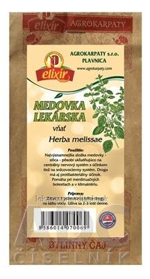 AGROKARPATY MEDOVKA LEKÁRSKA vňať bylinný čaj 1x30 g