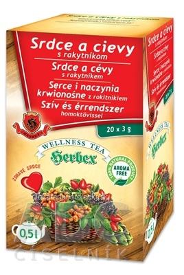 HERBEX Srdce a cievy s rakytníkom bylinný čaj (wellness tea) 20x3 g (60 g)