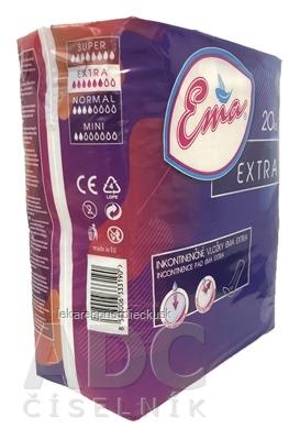 Ema EXTRA vložky inkontinenčné, pre ženy, savosť extra 1x20 ks