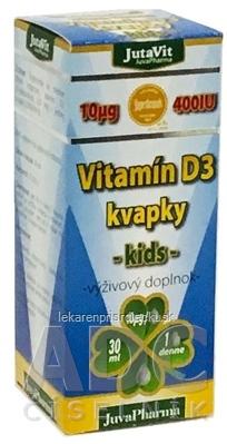 JutaVit Vitamín D3 kvapky - kids 1x30 ml