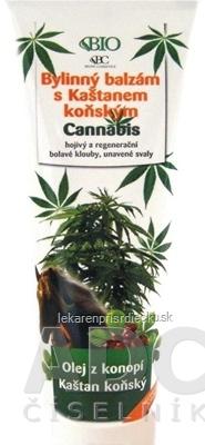 BIO Cannabis Bylinný balzam s pagaštanom konským, 1x300 ml
