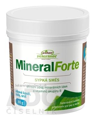 VITAR Veterinae Mineral Forte sypká zmes 1x80 g