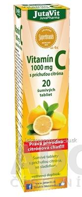 JutaVit Vitamín C 1000 mg šumivé tablety s príchuťou citróna 1x20 ks
