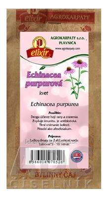 AGROKARPATY ECHINACEA PURPUROVÁ kvet bylinný čaj 1x30 g