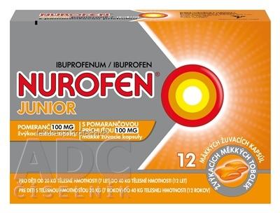 NUROFEN Junior s pomarančovou príchuťou 100 mg cps mdl 100 mg (blis.PVC/PE/PVDC/Al) 1x12 ks
