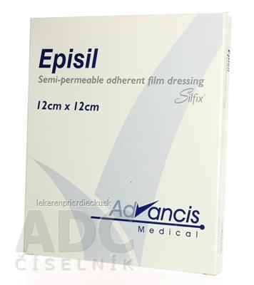 Vellafilm (Episil) krytie na rany silik.transparentné 12x12 cm 1x10 ks