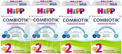 HiPP 2 BIO Combiotik (4-Balenie) následná mliečna výživa (od ukončeného 6. mesiaca) 4x500 g (2000 g)
