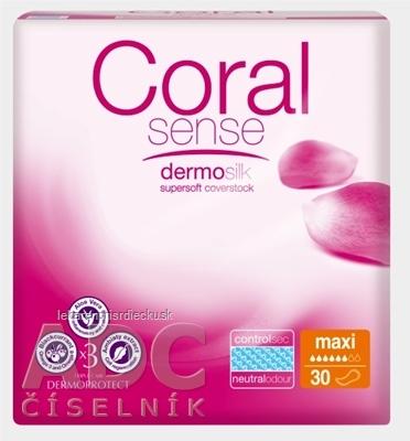 Coral Sense Maxi vložky inkontinenčné, pre ženy, 41 cm, 1x30 ks