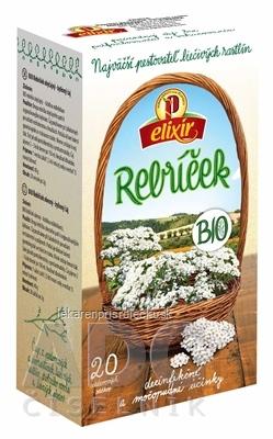 AGROKARPATY BIO Rebríček obyčajný bylinný čaj, čistý prírodný produkt, 20x2 g (40 g)