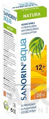 Sanorin Aqua NATURA nosový sprej 1x20 ml