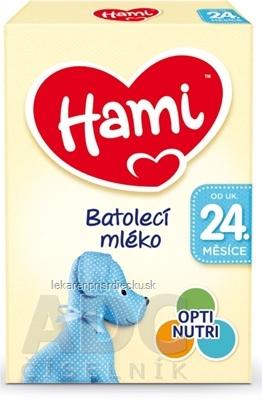 Hami batoľacie mlieko (od ukonč. 24. mesiaca) batoľacia mliečna výživa v prášku 1x600 g