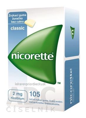 Nicorette Classic Gum 2 mg gum med (blis. PVC/PVDC/Al) 1x105 ks