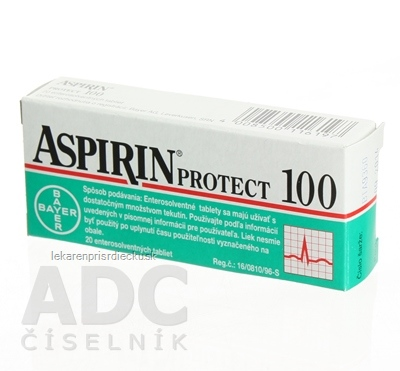 ASPIRIN PROTECT 100 tbl ent 100 mg (blis.Al/PP priehľ.) 1x20 ks
