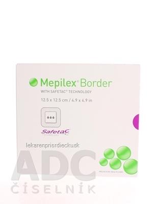 Mepilex Border 12,5x12,5 cm samolepivé krytie s mäkkým silikónom 1x5 ks
