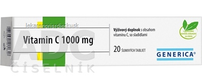 GENERICA Vitamin C 1000 mg tbl eff 1x20 ks