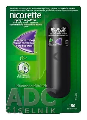 Nicorette Spray 1mg/dávka aer ora 150 dávok (fľ.PET) 1x13,2 ml