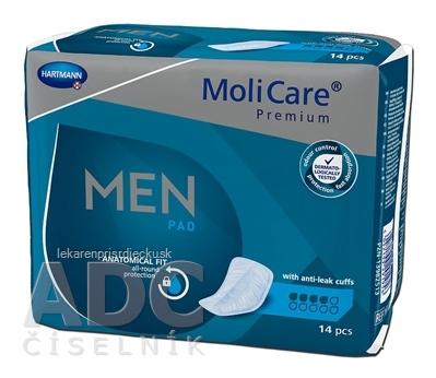 MoliCare Premium MEN PAD 4 kvapky inkontinenčné vložky pre mužov 1x14 ks