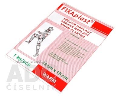 FIXAplast WARM Hrejivá náplasť 12x16 cm, 1x1 ks