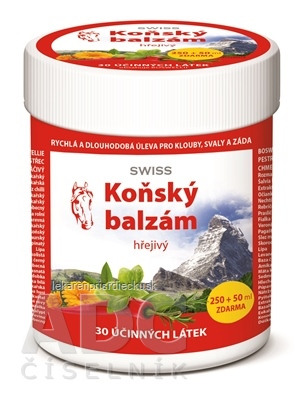 KONSKÝ BALZAM SWISS hrejivý 250+50 ml zadarmo (300 ml)