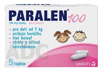 PARALEN 100 sup 100 mg (strip Al) 1x5 ks