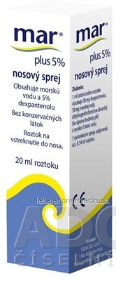 MAR plus 5% nosový sprej 1x20 ml