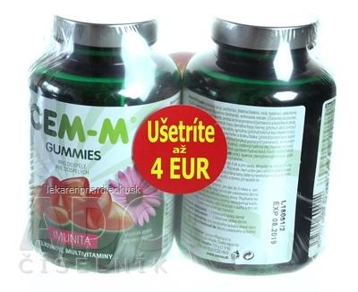 CEM-M GUMMIES IMUNITA želatínové multivitamíny s Echinaceou (zľava 4€) 2x60 (120 ks)