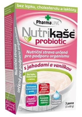 Nutrikaša probiotic - s jahodami a vanilkou 3x60 g (180 g)