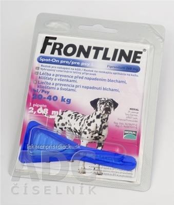 FRONTLINE Spot-on pre psy L sol (na kožu, pipeta, psy 20-40 kg) 1x2,68 ml