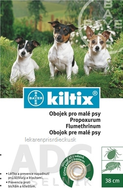 KILTIX obojok pre malé psy obvod 38 cm, antiparazitarny, 1x1 ks
